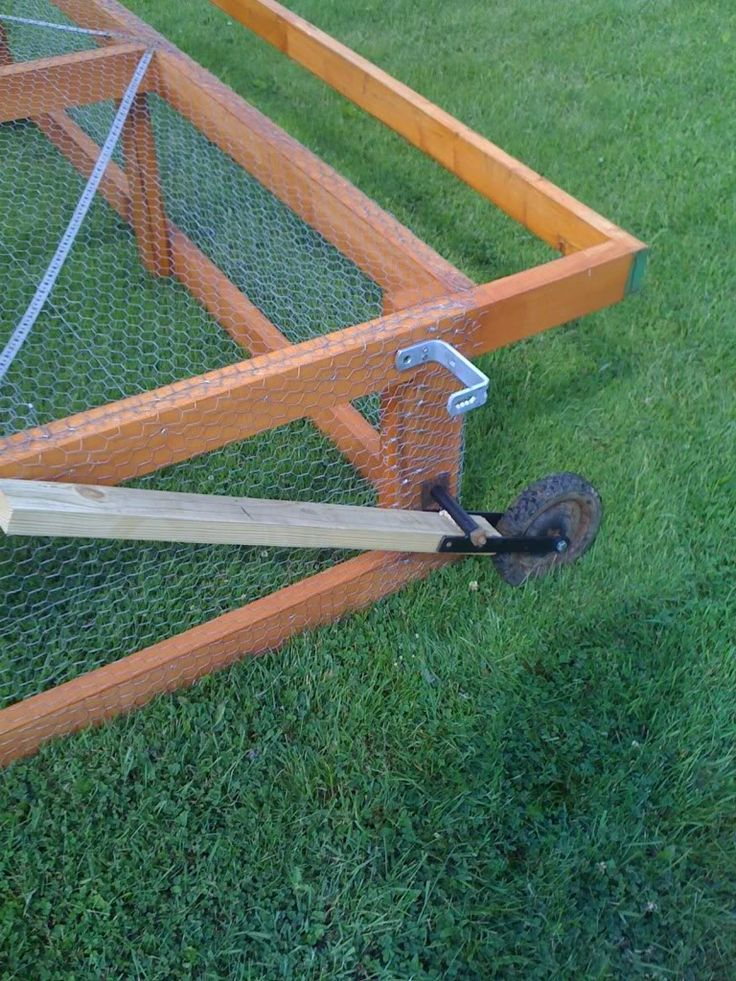 Chicken tractor wheel lift for the farmhouse pinterest for Moving chicken coop plans