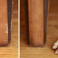 How to Repair Dinged Wood with a Walnut via @DecorHacks: Woods Furniture, Make Life Easier, Idea, Lifehack, Woods Scratch, Wooden Furniture, Life Hacks, Households Tips, Covers Up