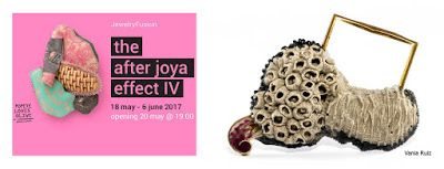 The After Joya Effect. Athens Jewellery Week 2017. on the right, brooch: Amalgama, Vania Ruiz.  .  36 Selected Artists from 20 different countries are called to participate in the project with the work shown in Joya Barcelona, Jewelry Art Fair, the previous year.    Popeye oves Olive Gallery, Athens