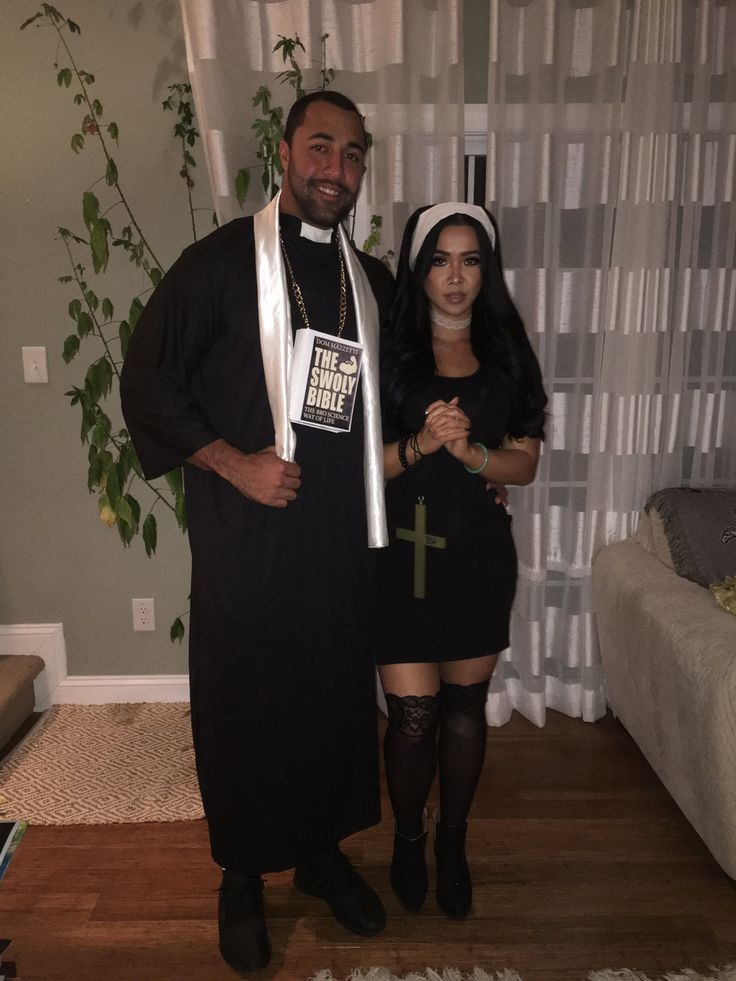 Halloween Priest And Nun Couple Costume  Diy  Couple -1334