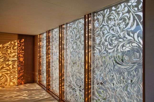 Jet-cut metal screens ....Dress Your Windows With These 19 Curtain Alternatives via Brit + Co