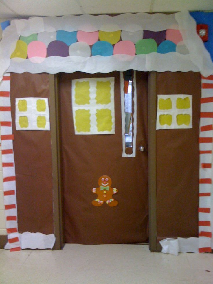 Christmas Classroom Decorations Teachers : Your classroom door is the gingerbread house great