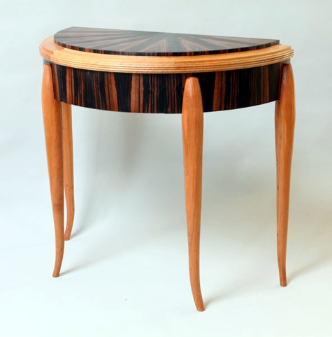 Superb Demi Lune Table By Joel Mark, Cherry, Macassar Ebony. Unique FurnitureWood  FurnitureFurniture ... Idea