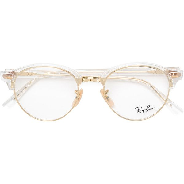 db90c16d7a Ray-Ban Clubround round-frame glasses ( 220) ❤ liked on Polyvore featuring  accessories