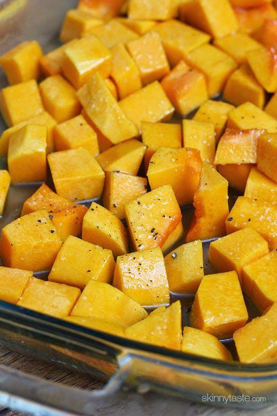 Maple Roasted Butternut Squash | Skinnytaste - Makes 3 Cups