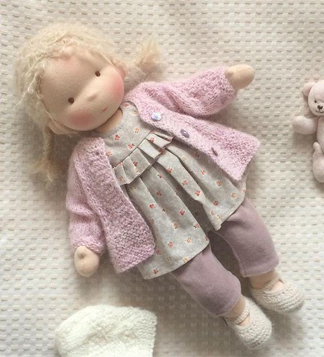 Кстати, мы ее сегодня назвали ) Лютик )) Есть такое имя?) #waldorfpuppe #taisoid #waldorfdoll #textiledoll #вальдорфскаякукла