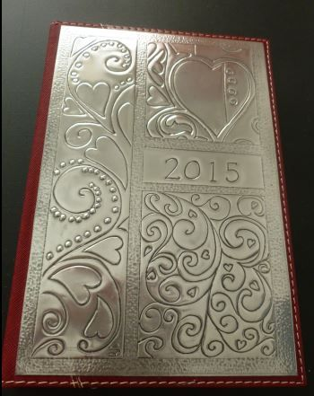 Heart Diary hand crafted by Caroline @ Pewter Concepts