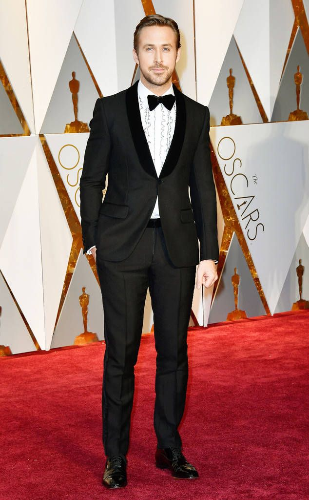 Ryan Gosling from Oscars 2017: Best Dressed Men  A textured lapel and some ruffles? Ryan just gets it.