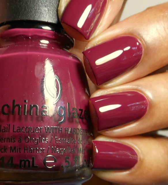 Purr-Fect Plum  Dirty cherry berry creme (China Glaze Fall 2012) YUM!