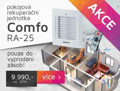 Připravili jsme pro Vás mimořádnou #akci. #Pokojovou #rekuperaci #COMFO RA-25 za #vyjímečnou cenu 9.990,-vč. DPH. #AKCE platí do konce ledna nebo do vyprodání zásob. Neváhejte, počet kusů je omezený. http://www.ventilatory.cz/pokojova-rekuperacni-jednotka-comfo-_ventilator_-1768.html