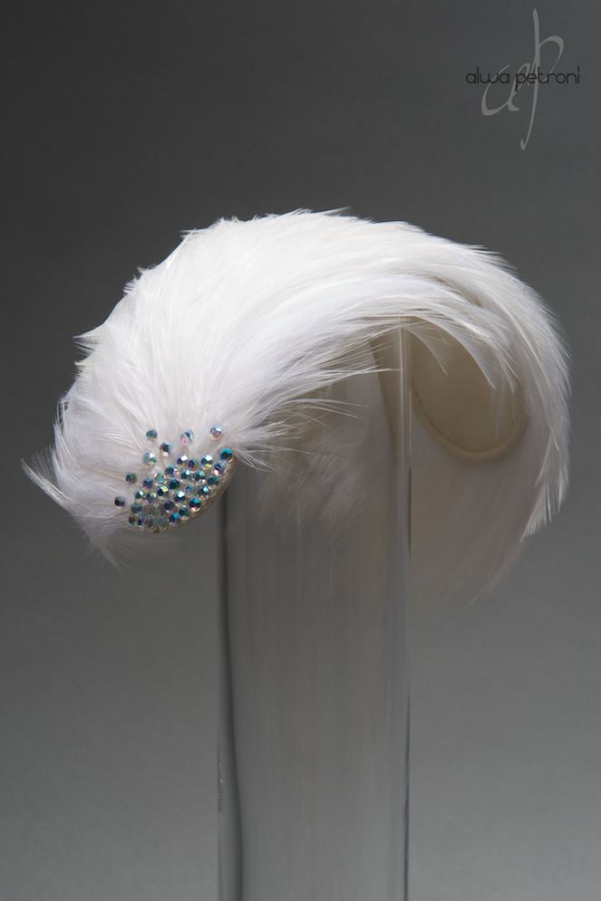 1950ies feather bandeau hat by Alwa Petroni