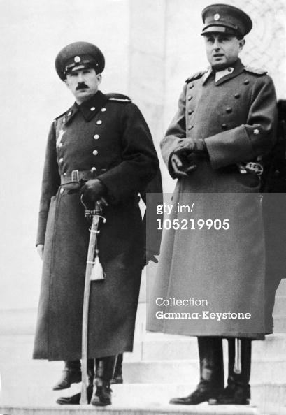 Regent Prince Paul Of Yugoslavia And King Boris Iii Of Yugoslavia In Belgrade In 1936 : News Photo