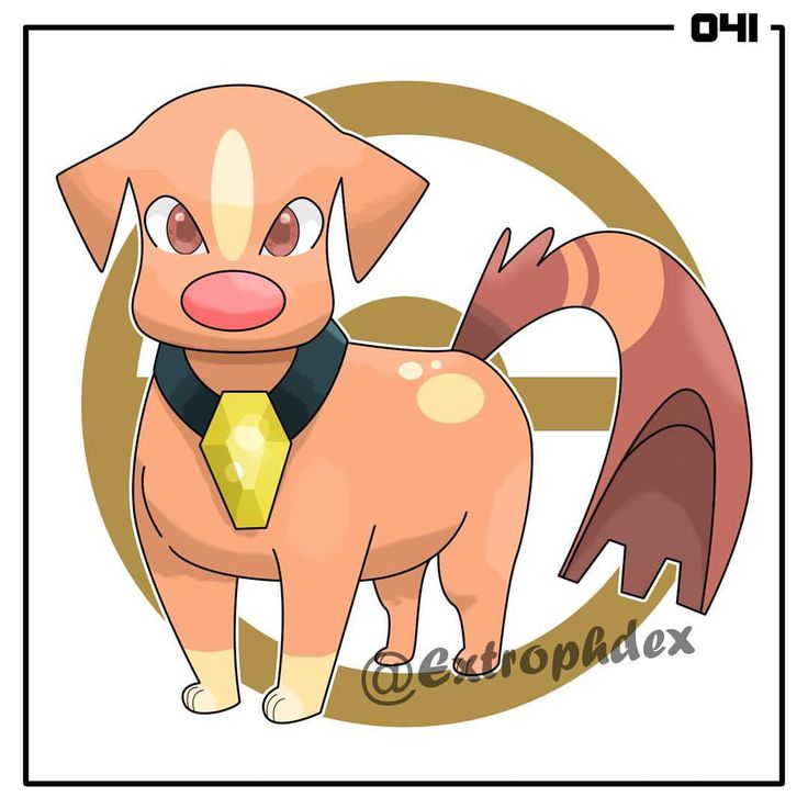 """Mongrowl, the Mongrel Pokemon [Ground] Pupwoof --Shiny Stone--> Mongrowl ⚜️ Height: 3'9"""" (1.14m) Weight: 120.2 lbs (54.5 kg) ⚜️ Guts / Defiant // Sand Rush (HA) HP - 80 ATK - 120 DEF - 80 SPATK - 60 SPDEF - 80 SPE - 105 ⚜️ Signature move: Go Fetch (Normal) - 70 Power, 100 Accuracy; Physical - the user attacks before rushing back to switch places with another Party Pokemon. ⚜️ """"It can burrow through almost any object. In dark caves, it uses its Shiny Stone to light its path."""" ⚜️ """"The…"""