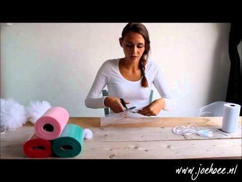 Pompoms maken van tule | Joehoee.nl - YouTube