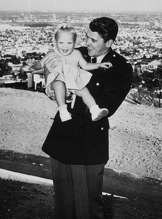 Ronald Reagan with daughter Maureen C. 1943