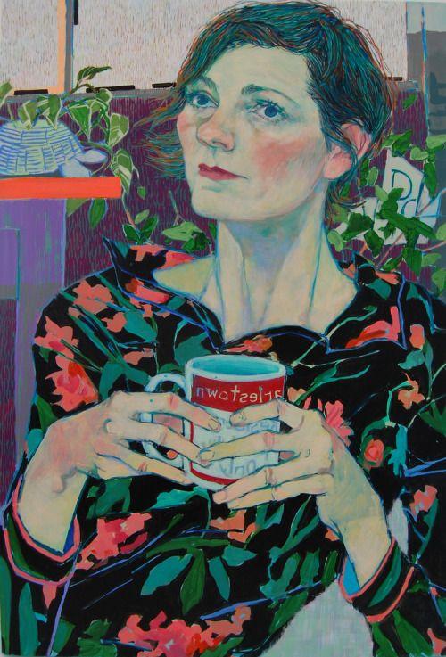 Art of Darkness: Hope Gangloff  Kristen Schiele 2015   Acrylic on panel   Art...   ArtofDarkness.co