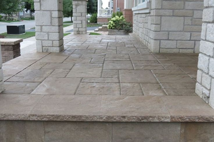 Have Stamped Concrete Patterns In Your Compound Concrete Porch