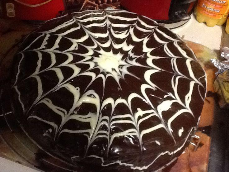 Homemade! Zelfgemaakte chocoladetaart!