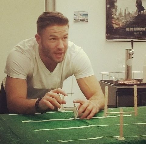 Edelman plays football any way he can get it