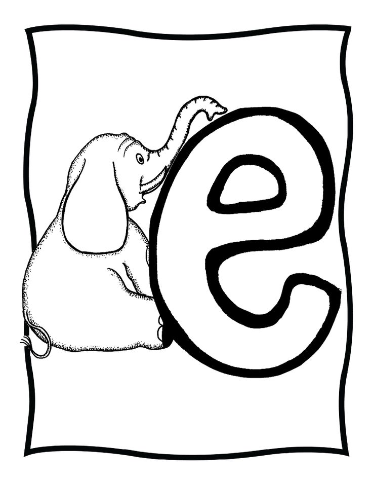 letter e coloring pages elephant - photo#7