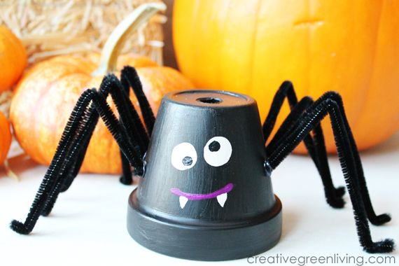 Make Friendly Upcycled Flower Pot Spiders ~ Creative Green Living