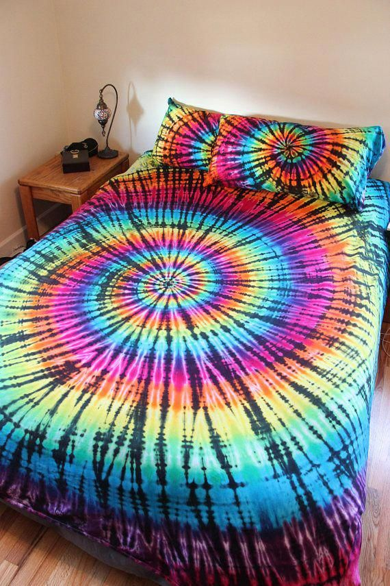 Bed Sheet Sets Handmade Tie Dye You choose colors and tie dye style