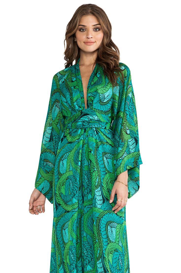 Dress long sleeve blue floral maxi
