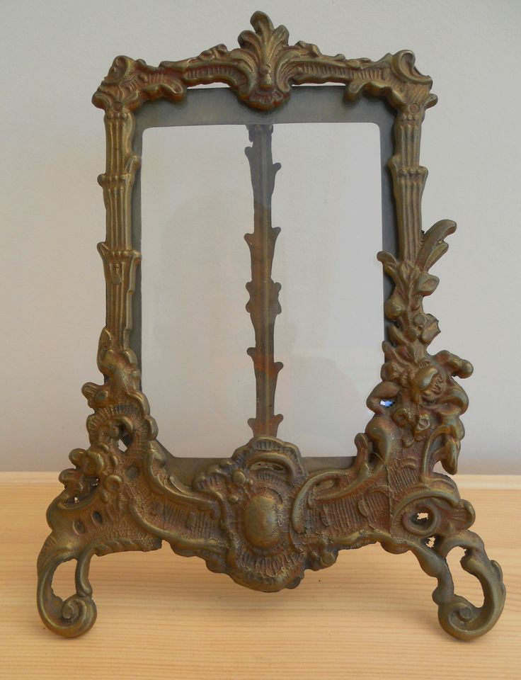 VINTAGE BRASS ORNATE PHOTO FRAME WITH GLASS ~ SOLD ON MY EBAY SITE LUBBYDOT1