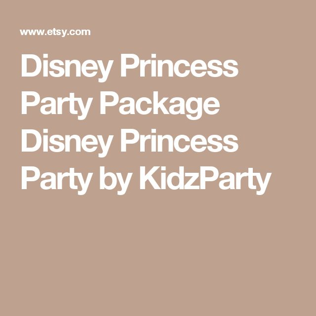 Disney Princess Party Package Disney Princess Party by KidzParty