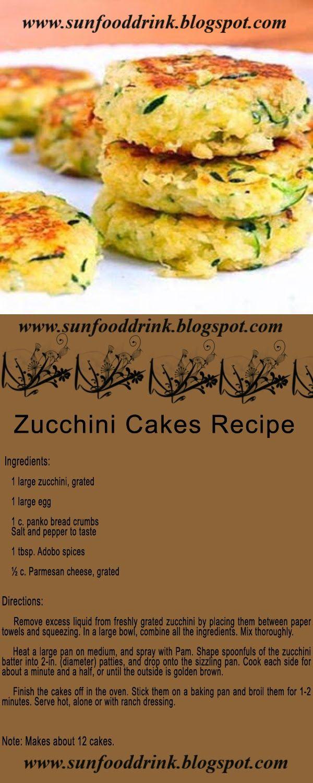 Zucchini Cakes Recipe