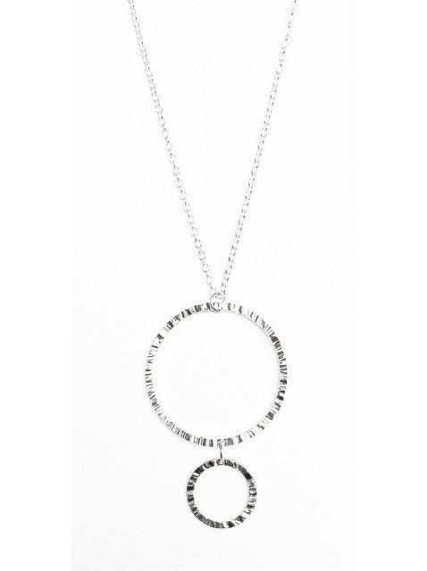 Mixed Circles Pendant - Sterling Silver