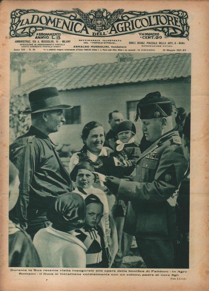 LA DOMENICA dell'AGRICOLTORE 20/1937 Mussolini a Palidoro | Collezionismo, Collezionismo cartaceo, Giornali e riviste d'epoca | eBay!
