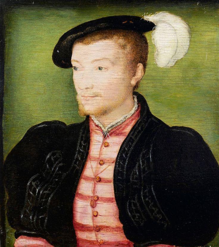 1540-е.François de Bourbon, Count of Enghien by Corneille de Lyon. 23 сент. 1519,Ла-Фер-23 февр.1546, Ла-Рош-Гийон) фр. аристократ из рода Бурбонов,полководец Итал. войн.Франсуа де Бурбон-Конде-2-й сын Карла IV де Бурбона и Франсуазы д'Алансон.Антуан Наваррский и принц Луи де Конде приход-сь ему родн. братьями,король Франции Генрих IV-племянником.