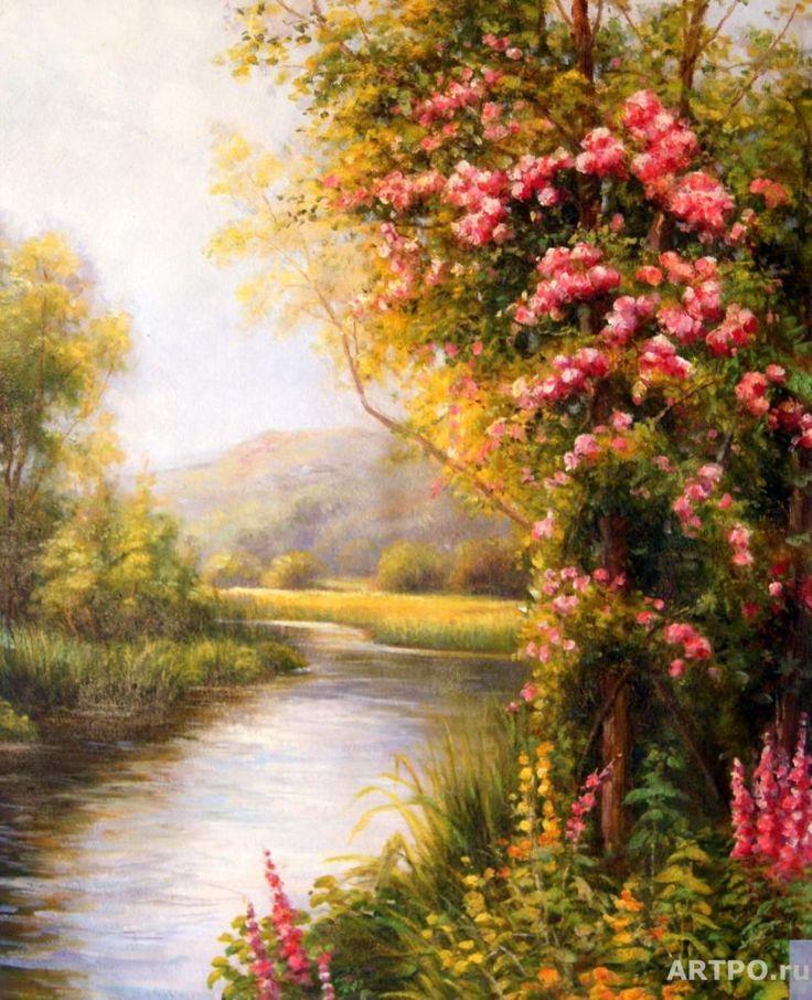 Минаев Сергей. Пейзаж с видом на реку