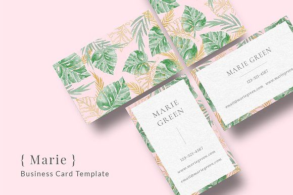 { Marie } Business Card Template by MediaNovak on @creativemarket