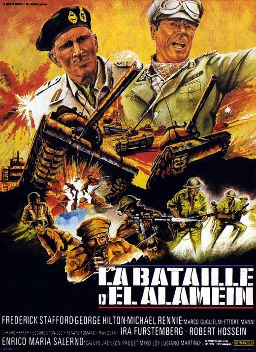 """The Battle of El Alamein (1969) """"La battaglia di El Alamein"""" (original title) Stars: Frederick Stafford, George Hilton, Michael Rennie ~ Director: Giorgio Ferroni"""