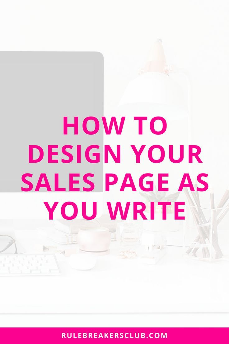 Tips from a sales page copywriter on how to design your sales page in the document so it's easier to design later on