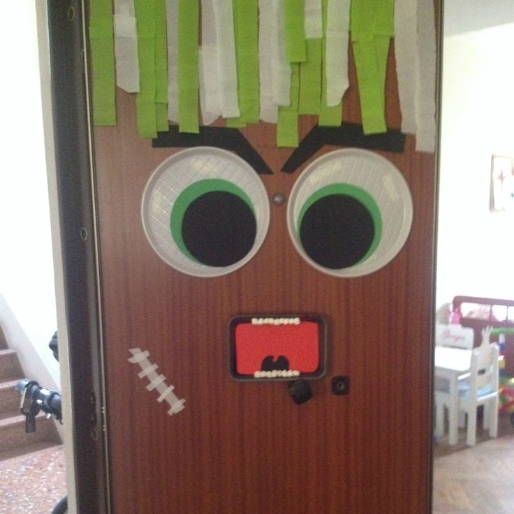 Decorazioni Halloween- Porta mostro