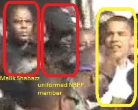 "Reminder as Ferguson Tension Grows: Obama Marched With The Black Panthers - Among those appearing with Obama was Shabazz, the Panther leader who was one of the defendants in the voter intimidation case that Attorney General Eric Holder dismissed. Also present was the Panthers' ""Minister of War,"" Najee Muhammed, who had called for murdering Dekalb County, Georgia, police officers with AK-47's and then mocking their widows."