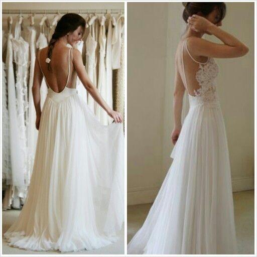 Charming Prom Dress,White Chiffon Prom Dress,Sexy Backless Prom