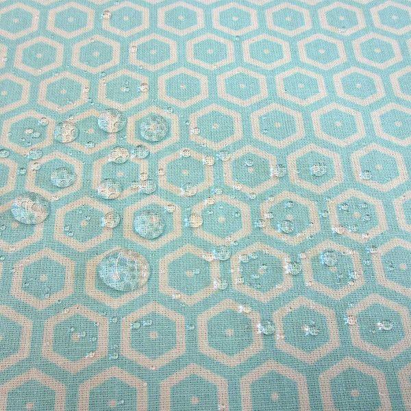 Stoff Punkte - Stoff beschichtet Baumwolle türkis Kikko Japan - ein Designerstück von werthers-stoffe bei DaWanda