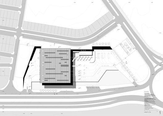 National Bus Terminal / Jimmy Liendo Terán, Kátia de Oliveira Vieira, Carlos Arellano Rivera,site plan