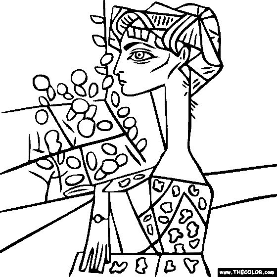 259 best coloring -famous art images on pinterest | drawings ... - Famous Art Coloring Pages Picasso