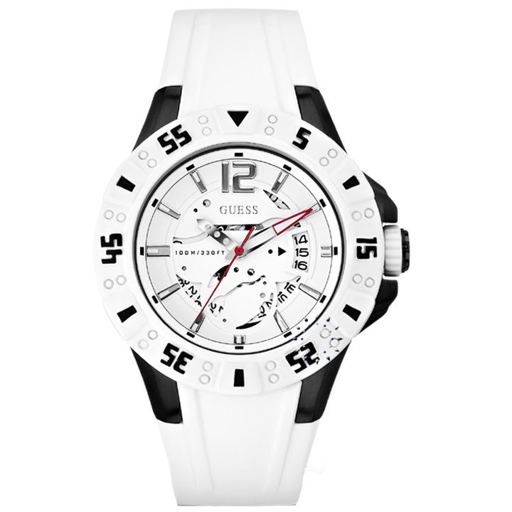 GUESS Date White Rubber Strap Η τιμή μας: 139€ http://www.oroloi.gr/product_info.php?products_id=29258
