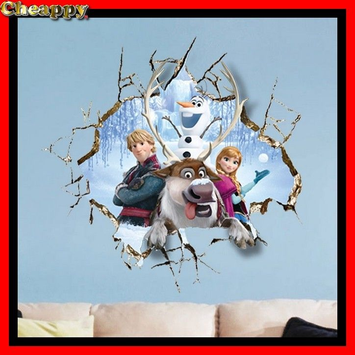Frozen 3D muurstickers set 2, kinderkamer, speelkamer
