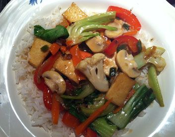 Looking for a meatless dish? Try this  Tofu & Veggie Stirfry.: Mondays Recipes, Vegans Recipes, Meatlessmonday Recipes
