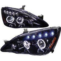 Cheap Spec-D Tuning Honda Accord 2003 2004 2005 2006 2007 LED Halo Projector…