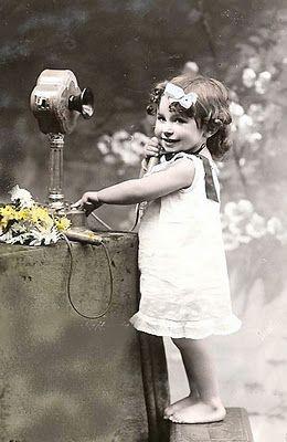 Little girl on the phone :)
