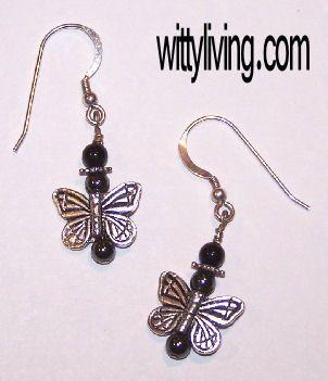 butterfly beaded earrings project