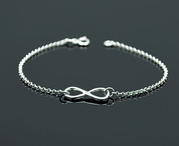 NEW  Beautiful INFINITY bracelet sterling by euforioHandmade